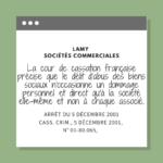 La cour de cassation française précise que le délit d'abus des biens sociaux n'occasionne un dommage personnel et direct qu'à la société elle-même et non à chaque associé.
