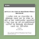 Article 6 du code de procédure pénale malgache