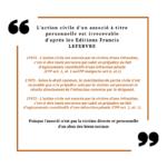 L'action civile d'un associé est irrecevable d'après les Editions Francis LEFEBVRE